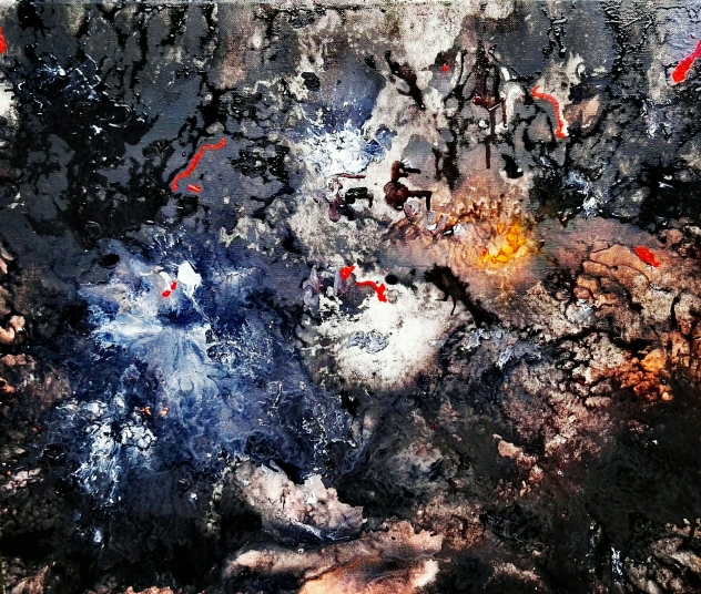 Oblivion - Mixed Media on Canvas - SOLD