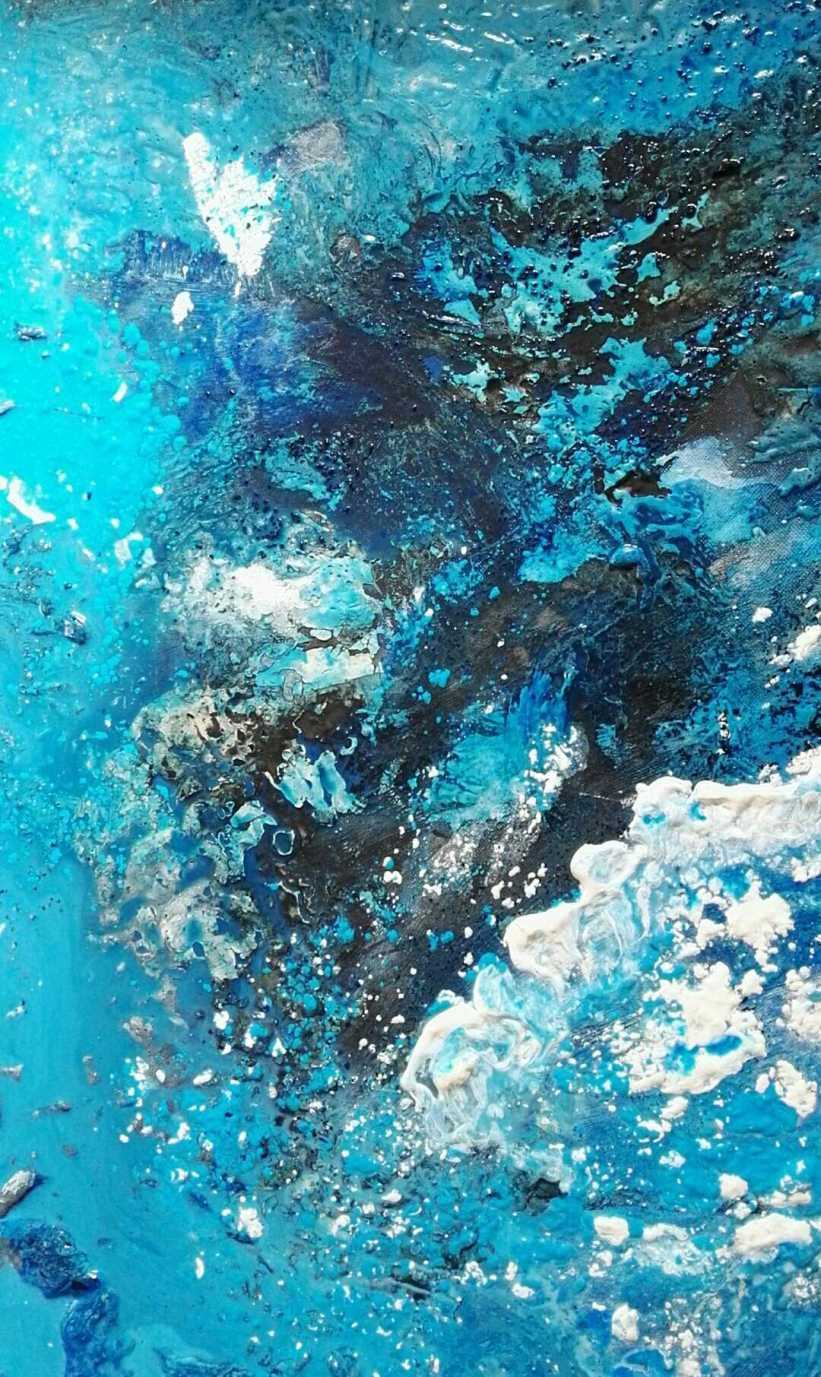 Blue II - Mixed Media on Canvas - SOLD