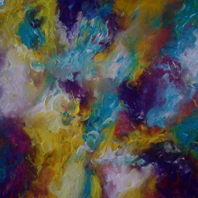 Close up - Ethereal - Mixed Media on Canvas