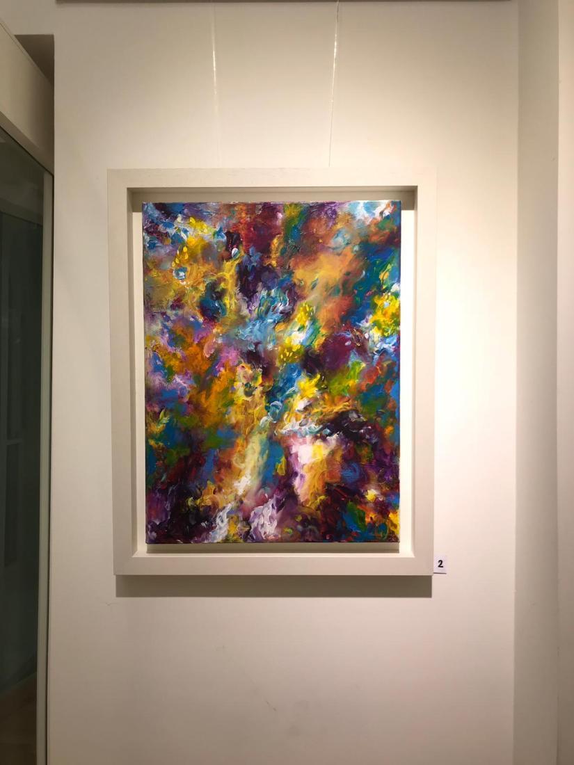 Fuchsia Skye - Acrylic on Canvas