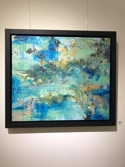 'Stratis' Mixed Media on Canvas 20 x 30 Inches Framed 300.00 Euro