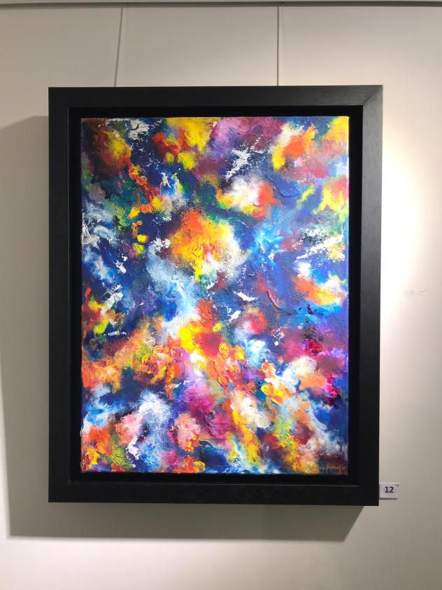 'Musca VI' Mixed Media on Canvas 18 x 24 Inches Framed 275.00 Euro