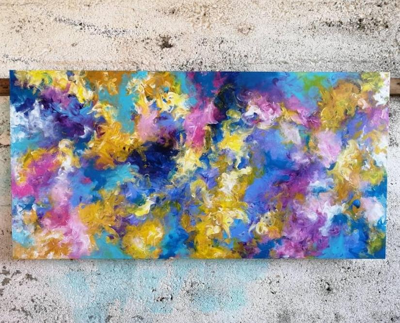 'LightCatcher' Acrylic on Canvas 50 x 100 cms POA